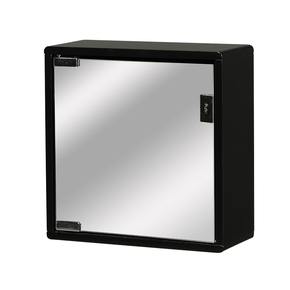 Väggskåp svart med spegel 30x30x12cm