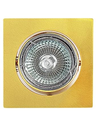 Светильник встраиваемый De Fran FT 107KA SG MR16, сатин/цвет золото