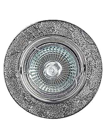 Светильник встраиваемый De Fran FT 834 MR16, цвет хром/серебро