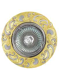 Светильник встраиваемый De Fran FT 182AK GCH MR16, цвет золото/хром