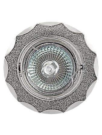 Светильник встраиваемый De Fran FT 837AK MR16, цвет хром/серый