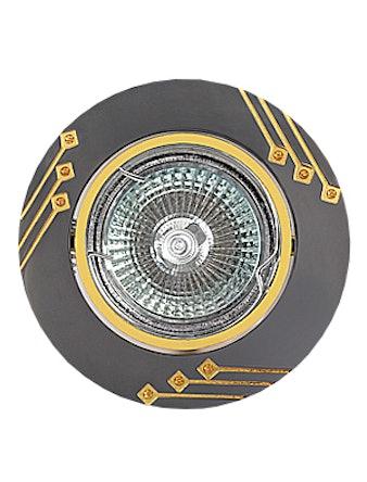 Светильник встраиваемый De Fran FT 190 GUG MR16, цвет графит с золотом