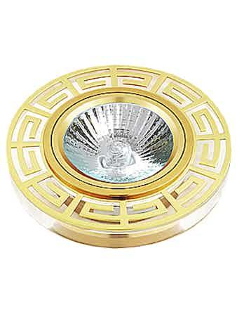 Светильник встраиваемый De Fran FT 863 MR16 круг, цвет золото/ белый