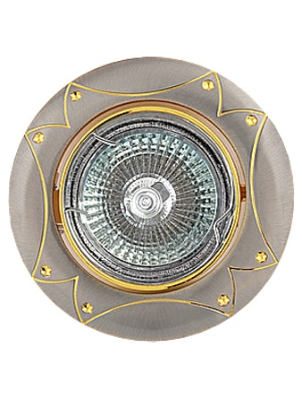 Светильник встраиваемый De Fran FT 189 SNG MR16, сатин/никель с золотом