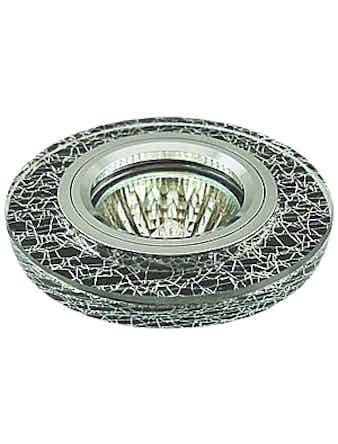 Светильник встраиваемый De Fran FT 770 BC MR16, цвет хром/черный/серебро