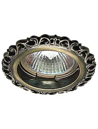 Светильник встраиваемый De Fran FT 1118 GAB MR16, цвет бронза