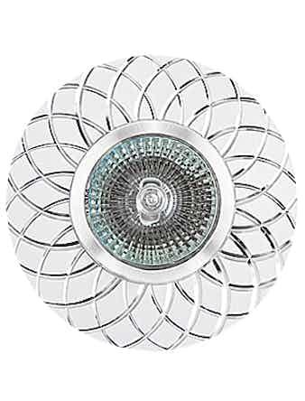 Светильник встраиваемый De Fran FT9955 SLWH MR16, цвет серебро/белый