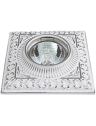 Светильник встраиваемый De Fran FT 1124 SCH MR16, белый с серебром