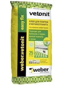 Клей плиточный Weber.Vetonit Easy Fix 25 кг