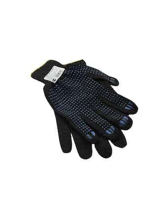 Перчатки х/б с ПВХ черные (40 г)