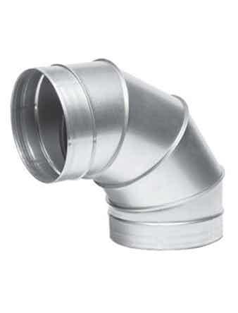 Отвод для вентиляции 125 на 90