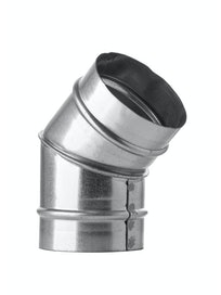Отвод 45° для вентиляции Благовест, 100 мм, оцинкованный