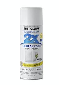 Краска аэрозольная Rust-Oleum 2X, белый глянец, 340 г
