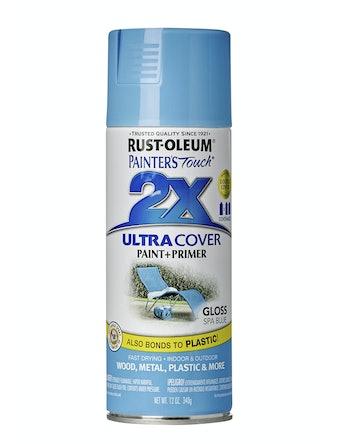 Краска аэрозольная Rust-Oleum 2X, голубая глянцевая, 340 г