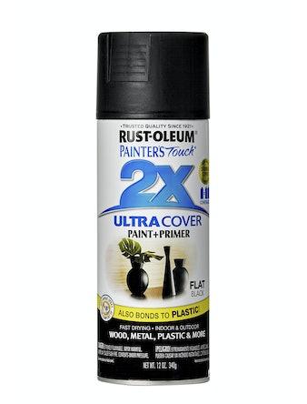 Краска аэрозольная Rust-Oleum 2X, черная матовая, 340 г