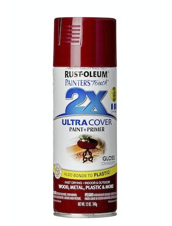 Краска аэрозольная Rust-Oleum 2X, глянцевая, клюква, 340 г