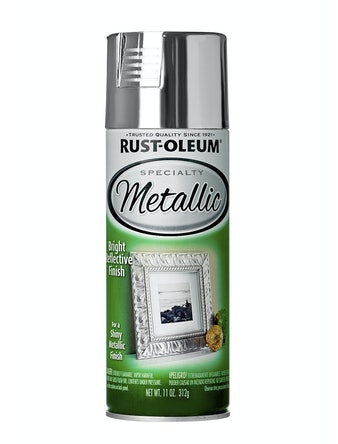 Краска аэрозольная антикоррозийная металлик, серебро, 312 г