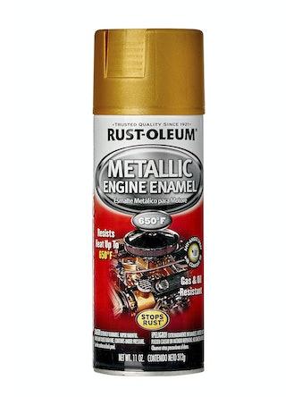 Эмаль аэрозольная термостойкая 343°С Rust-Oleum, золотистый металлик, 312 г