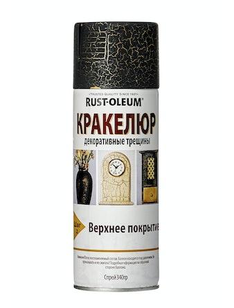 Краска-спрей Rust-Oleum Кракелюр, черная, 340 г