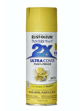 Краска аэрозольная Rust-Oleum 2X, матовая, цвет лимон, 340 г