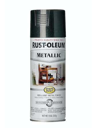 Краска аэрозольная Rust-Oleum, черная, 312 г