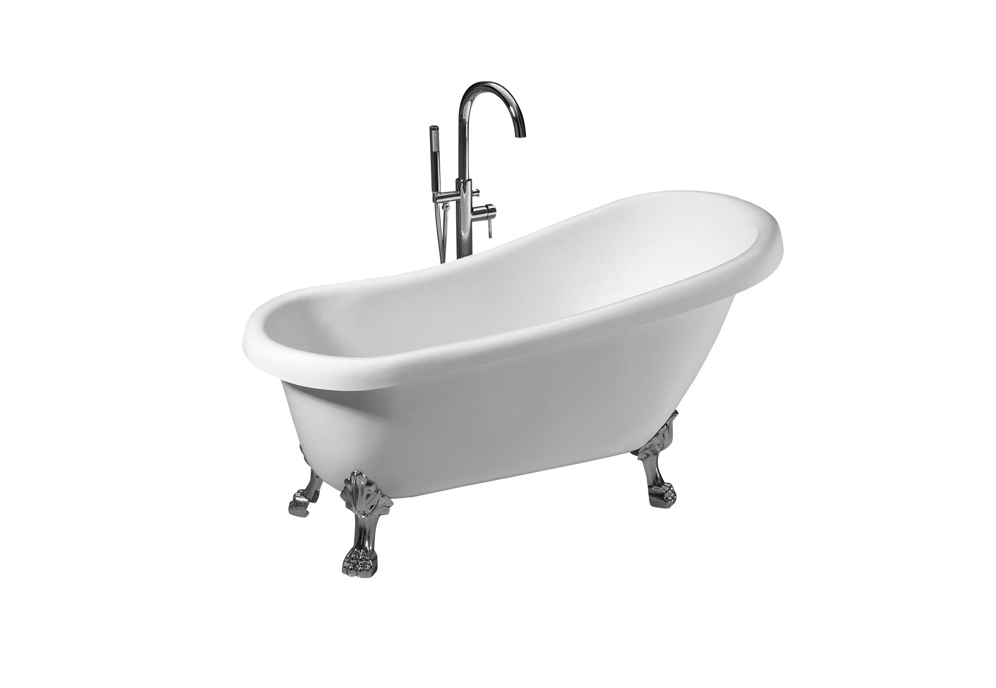 litet badkar med tassar