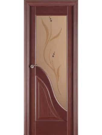 Полотно дверное Ирида остекленное 700х2000 венге