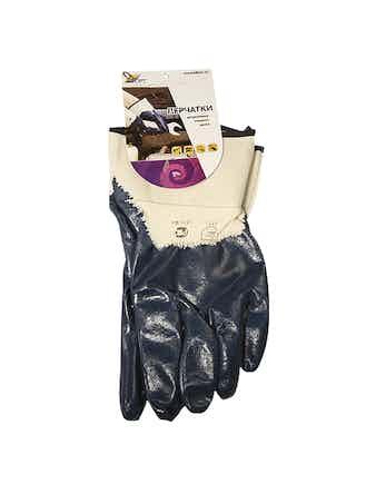 Перчатки нитриловые с манжетом-крагой