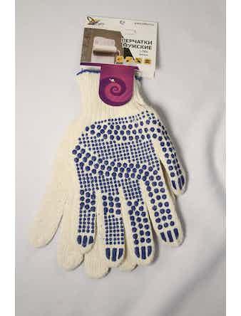 Перчатки с ПВХ рисунок Волна/орнамент