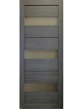 Дверное полотно Uberture Light 2120/3С ДО-80, цвет графит, 800 х 37 х 2000 мм
