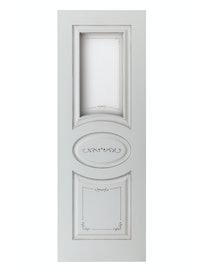 Дверное полотно со стеклом Interne Doors Севилья ПО-70, эмаль белая патина № 17, 700 х 2000 мм