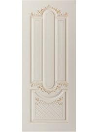 Дверное полотно София ПГ-90, эмаль, цвет слоновая кость, патина
