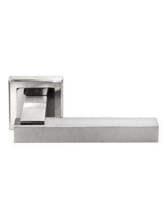 Ручка дверная Morelli DIY MH-37 SN/BN-S, белый никель/черный никель