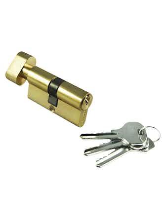 Цилиндр ключевой с заверткой 60 мм PG
