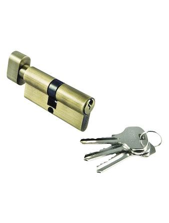 Цилиндр ключевой с заверткой 70 мм AB