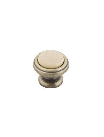 Ручка фарф. d=32 мм MGC802A антич. брон./беж.