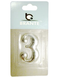 Цифра дверная Brante '3' на клеевой основе, хром