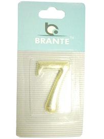 Цифра дверная Brante '7' на клеевой основе, золото