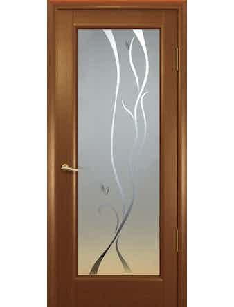 Полотно дверное Новая волна P стекло 700х2000 красное дерево