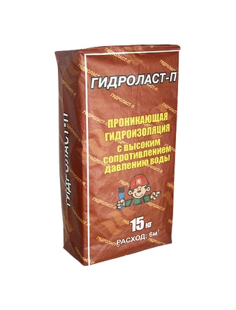 Гидроизоляция Гидроласт П 15 кг