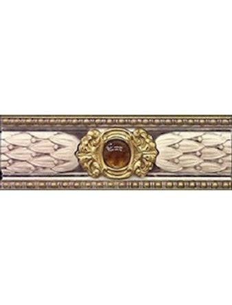 Бордюр настенный Majestic Crema, 8 х 25 см