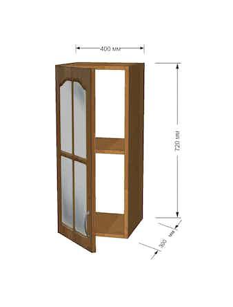 Модуль кухонный Ольха полка 40см витрина