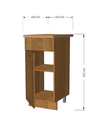 Модуль кух Ольха стол 40см 1 ящ