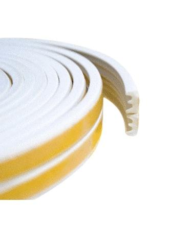 Уплотнитель профиль - Е белый (10 п/м)