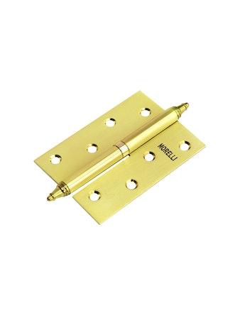 Петля стальная с короной MS100Х70Х2,5 правая мат. золото