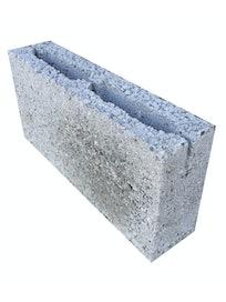 Керамзитобетонный пустотелый блок, 39 х 19 х 9 см