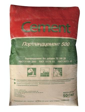 Цемент М-500 Д20 50кг евро