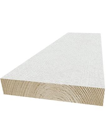 Ytterpanel 22x170mm grundmålad vit