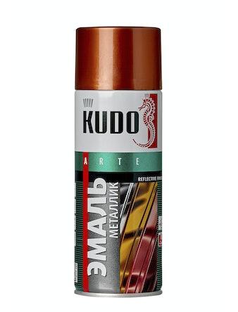 Эмаль аэрозольная металлик медь KUDO 1030, 0,52 л