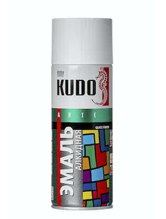 Эмаль аэрозольная белая матовая KUDO 1101, 0,52 л